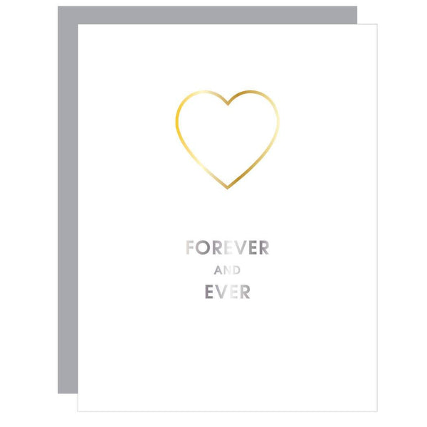Forever and Ever - Heart Paper Clip Letterpress Card - Card