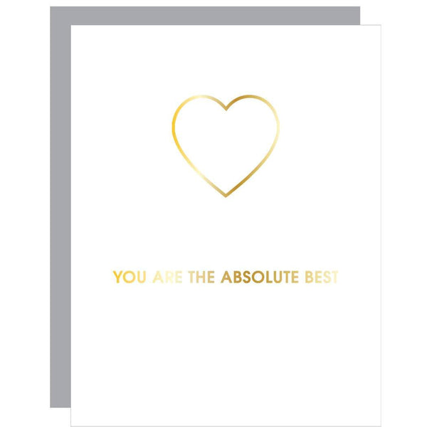Friendship Heart Paper Clip Letterpress Card - Card