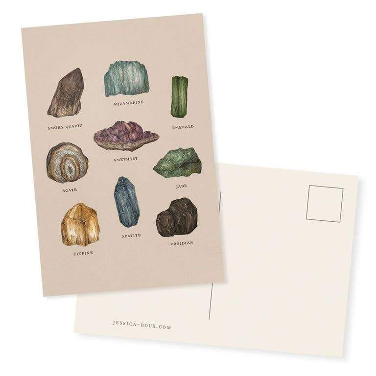 "Gems and Minerals Postcard - 4"" x 6"" - Writing and"
