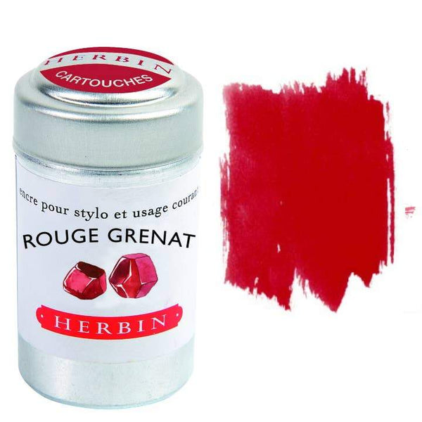 Herbin Fountain Pen Ink Cartridges - Garnet Red - Writing