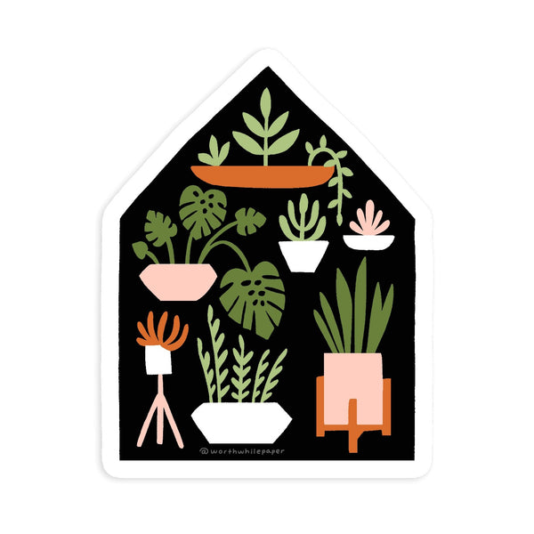Houseplants Die Cut Sticker - Gift