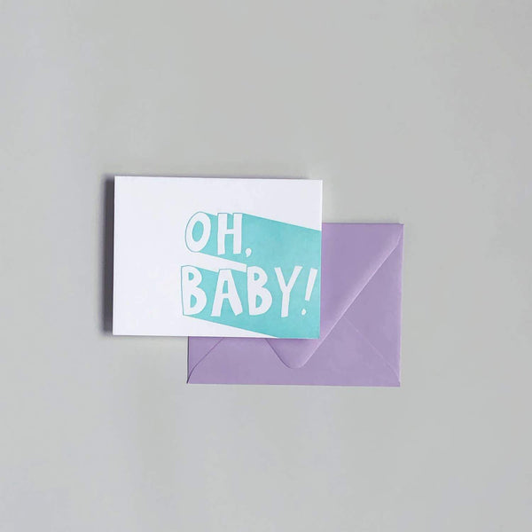 Letterpress Card - Oh Baby! - Card