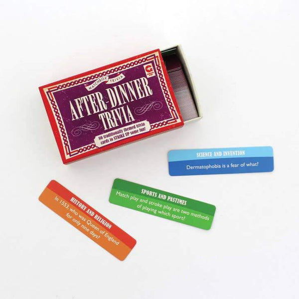 Matchbox Trivia - After-Dinner Trivia - Toy