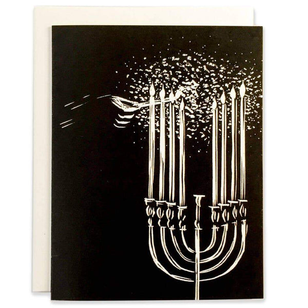 Menorah Winter Holidays Card - Single - Card