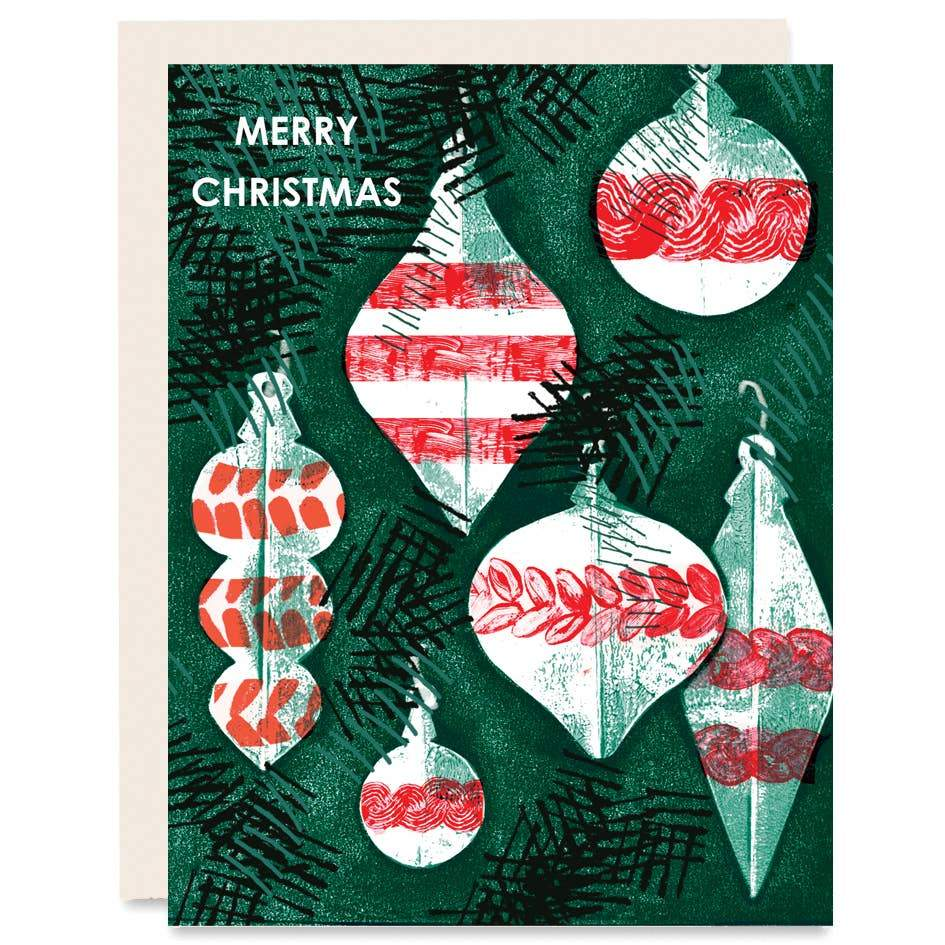 Merry Christmas Holiday Card Boxed Set of Six - Card