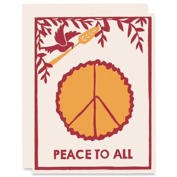 Peace of Pie Winter Holidays Card - Single - Card
