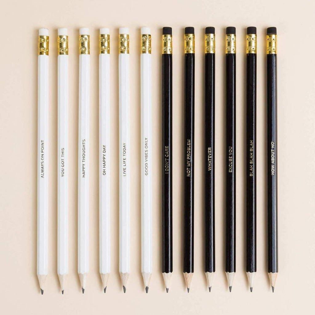 Positive & Negative Pencils - Set of 8 - Writing and
