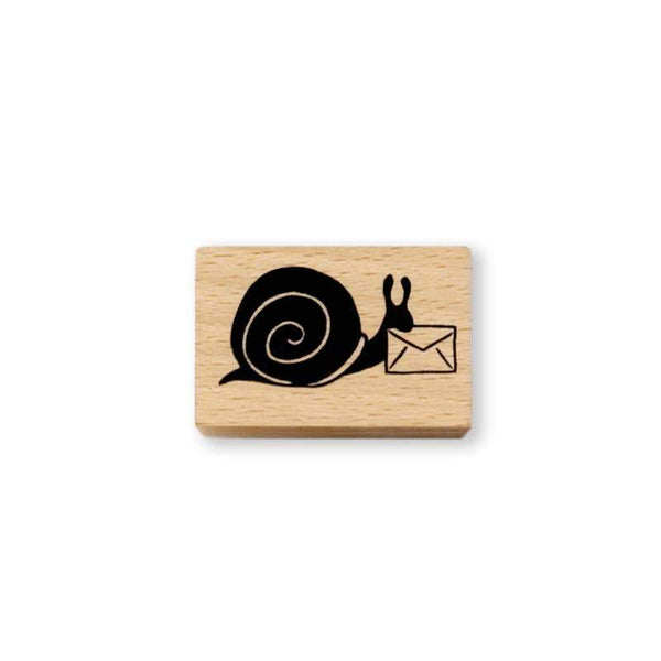 Snail Express Rubber Stamp - Writing and Correspondence