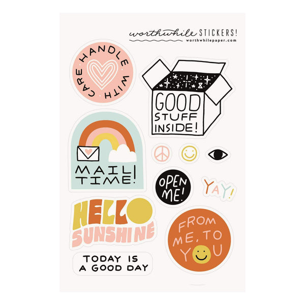 Snail Mail Sticker Sheet (set of 2) - Gift