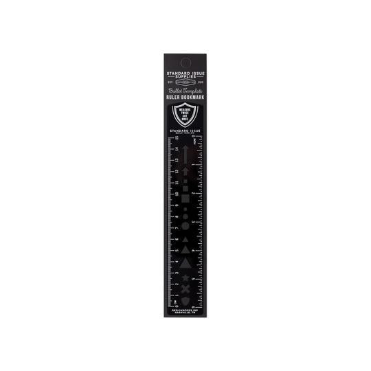 Standard Issue Bullet Template Ruler - Black - Writing and