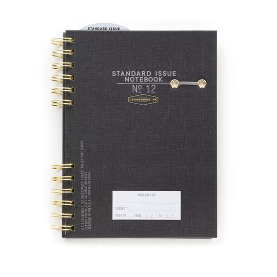 Standard Issue Hardcover Notebook - Black - Writing and