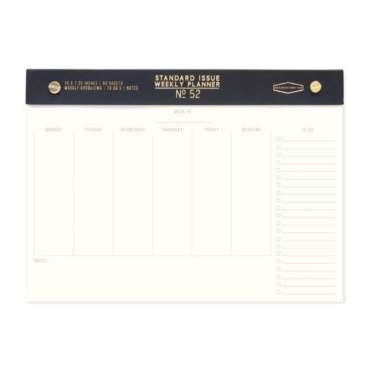 Standard Issue Weekly Desk Planner - Black - Writing and