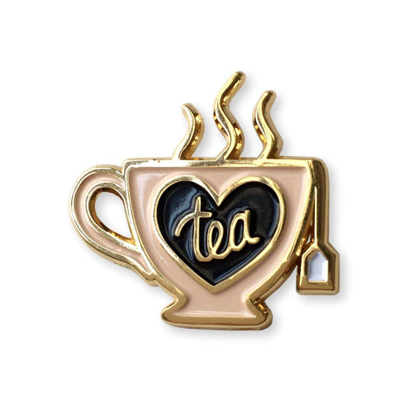Tea Snob Enamel Pin - Gift