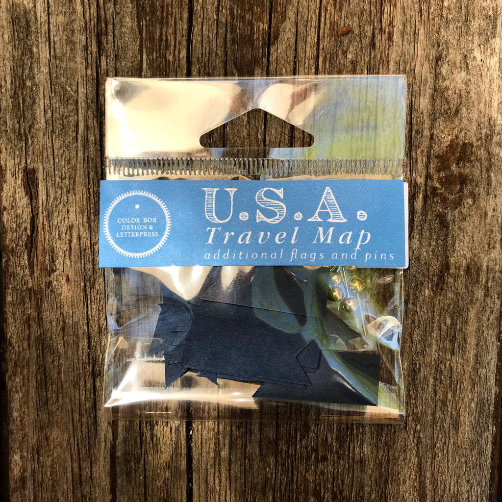 USA / World Travel Map - Refill Pack - Gift