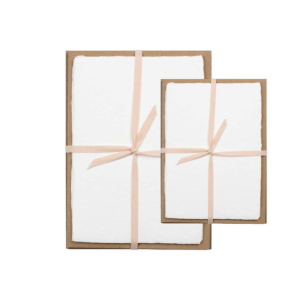 White Handmade Paper Pack - 5 x 7 - Writing and