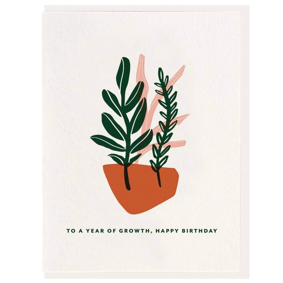 Year of Growth - Letterpress Card - Card