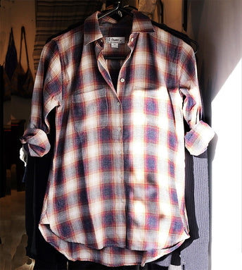 "#91W  SAGAPONACK ""BROWN FLANNEL PLAID"""