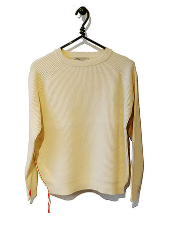 Cotton Cashmere Sweater Full Length - Cream