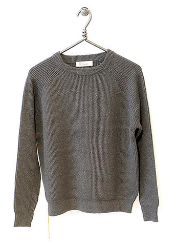 Cotton Cashmere Sweater Full Length - Fog