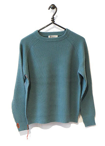 Cotton Cashmere Sweater Full Length - Lagoon
