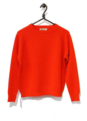 Cotton Cashmere Sweater Full Length - Red