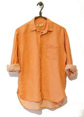 #06M Murphy Delave Linen Orange Shirt