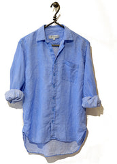 #04M Murphy Delave Linen Light Blue Shirt
