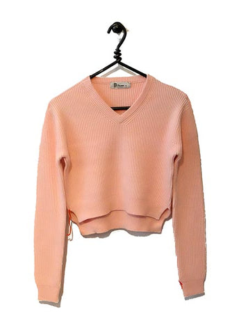 Cotton Cashmere Sweater Cropped - Pink