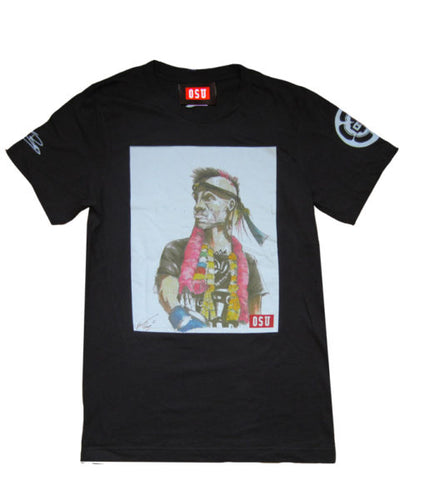 KEVIN ROSS 'SELF PORTRAIT' TEE (BROWN)