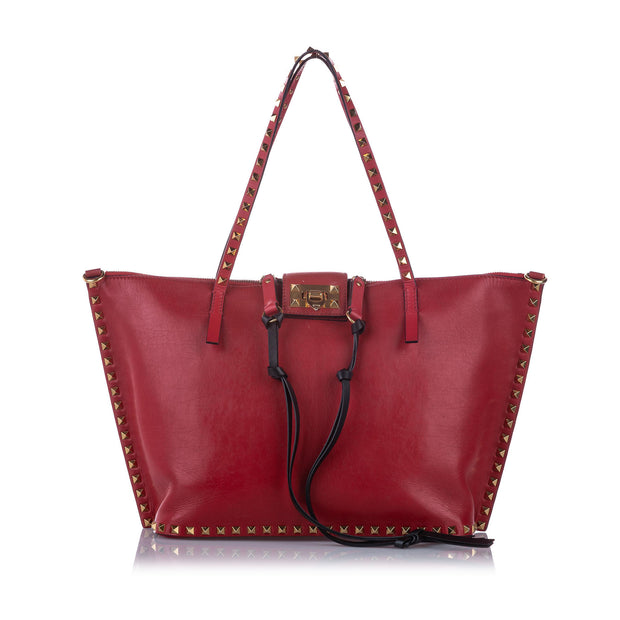 Pre owned Valentino Rockstud Leather Satchel