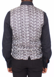 Dolce & Gabbana Gray Wool Stretch Dress Vest Blazer - Azura Runway