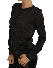 Dolce & Gabbana Black Cardigan Sweater Lightweight Top - Azura Runway