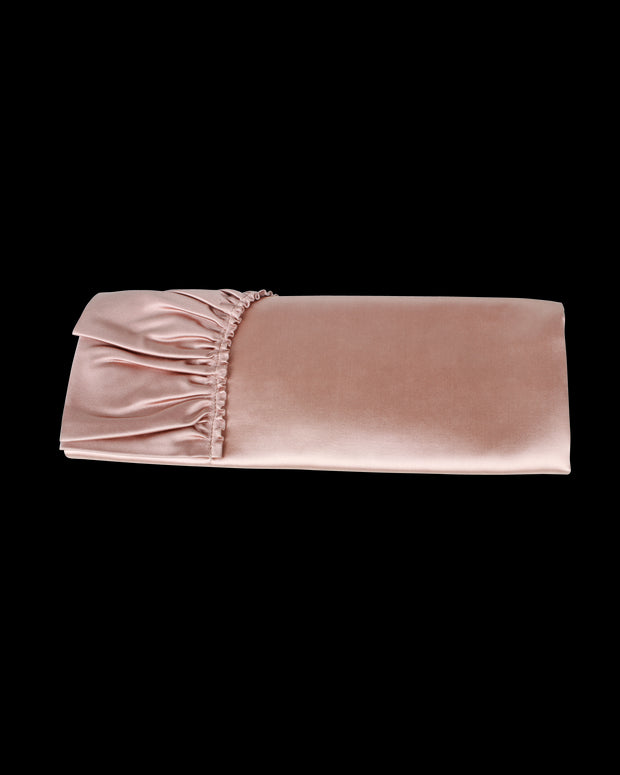 Valentino Light Pink Ruched Clutch -Pre Owned Condition Very Good One