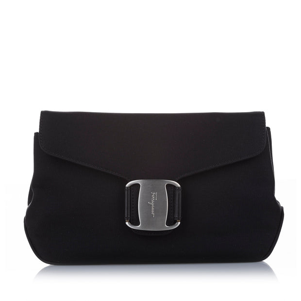 Ferragamo Vara Canvas Clutch
