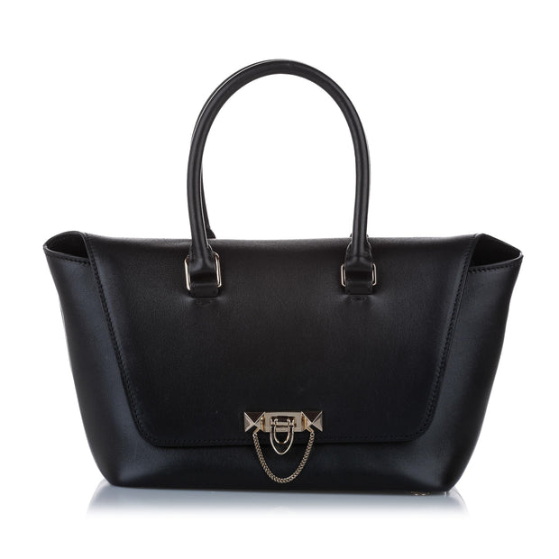 Pre owned Valentino Demilune Leather Satchel