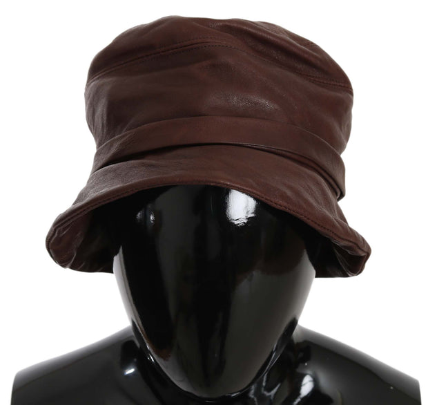 Dolce & Gabbana Plain Brown Sheep Leather Bucket Hat
