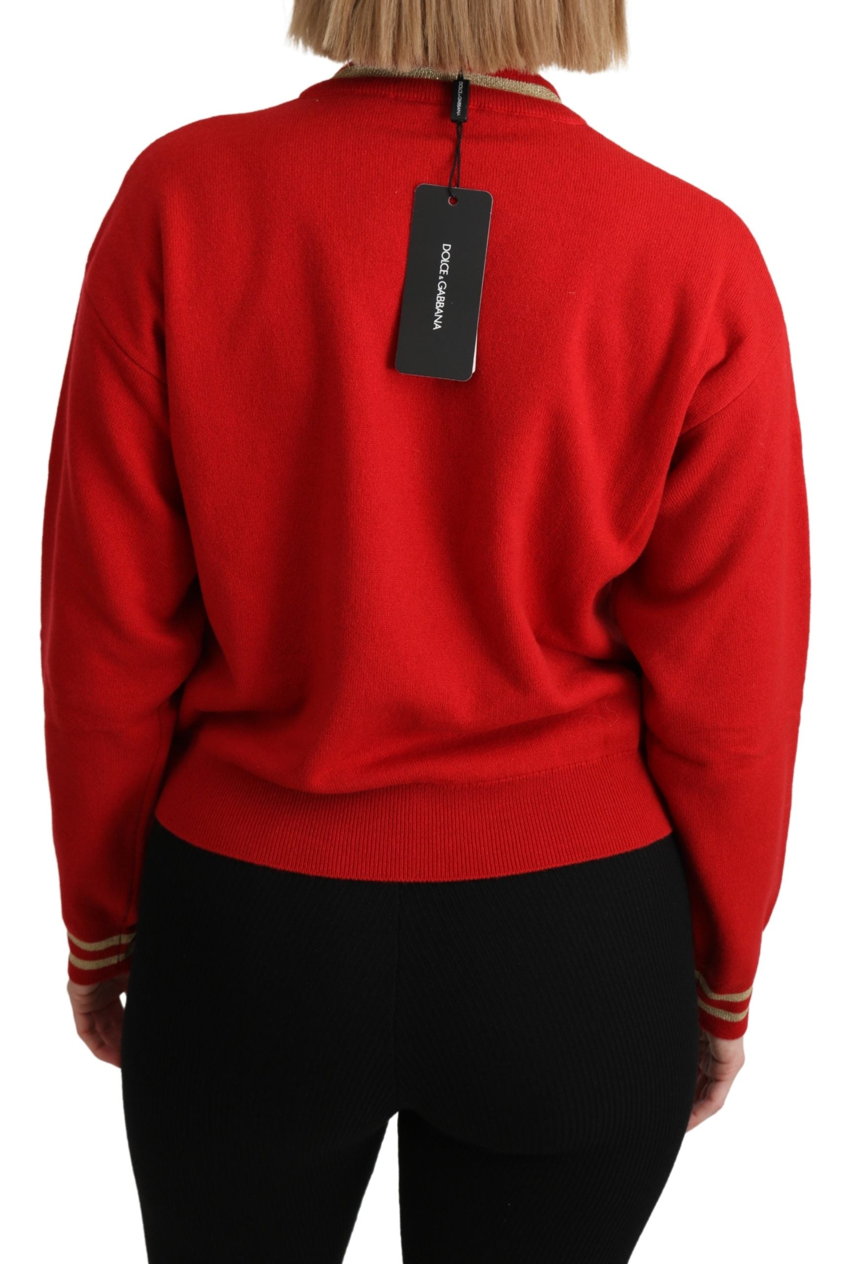 Image of Dolce & Gabbana Turtleneck Cashmere Pullover Sweater