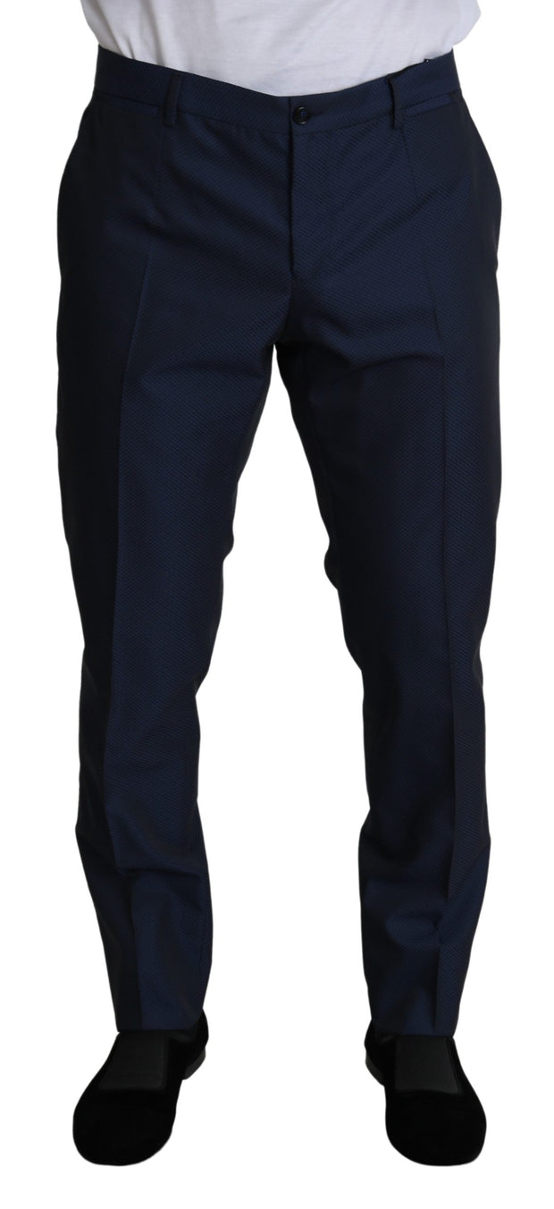 Dolce & Gabbana Gray Slim Fit 3 Piece Wool MARTINI Suit