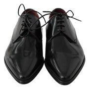 Dolce & Gabbana Black Leather Derby Dress Mens Shoes
