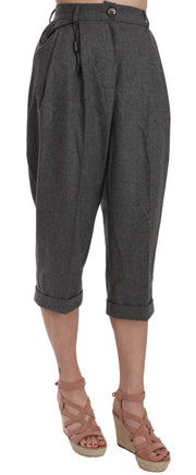 Dolce & Gabbana Wool Cropped Trouser Pleated Pant - Azura Runway