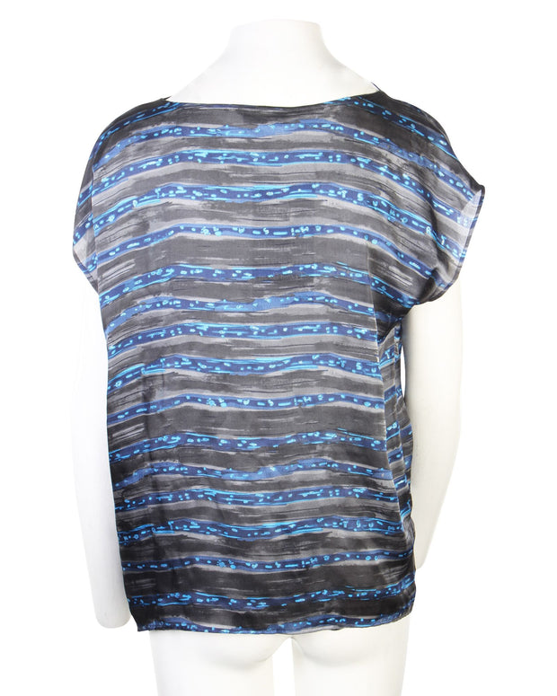 Tsumori Chisato Printed Top -Pre Owned Condition Excellent JP2