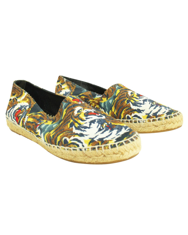 Kenzo Tiger Print Flat Espadrilles -Pre Owned Condition Very Good 38