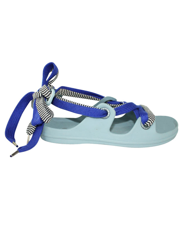 Acne Studios Rubber Sandals With Blue Laces -Pre Owned Condition Very