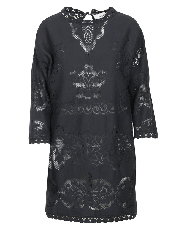 Valentino Black Lace Oversized Dress -Pre Owned Condition Excellent