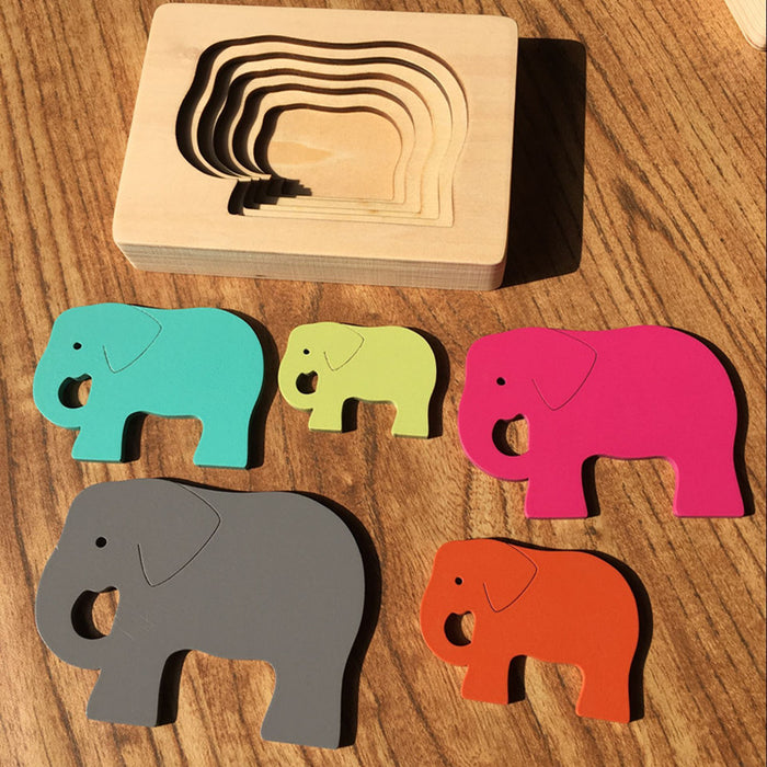 Wooden Multilayer Jigsaw 3D Puzzle