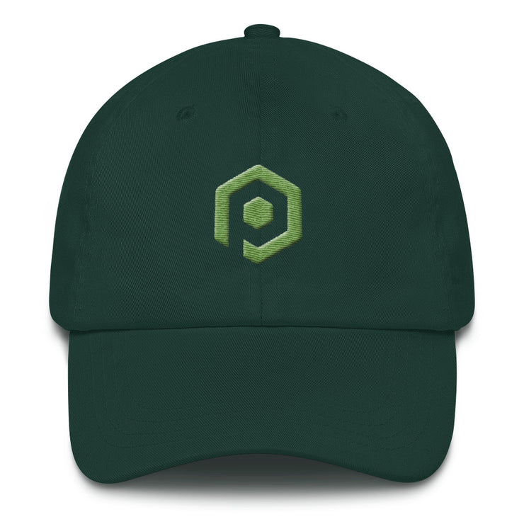 Green and Kiwi Classic Cap with 3D Embroidered Icon