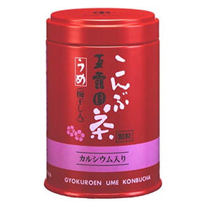 Ume konbu cha (Tea made of powdered kelp with plum) 40g  玉露園 梅昆布茶 缶40g