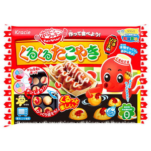 Popin' Cookin' Takoyaki Octopus Snacks (16g) クラシエ くるくるたこやき 16g