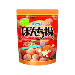 Bonchi Shrimp and mayonnais flavor snacks 100g ぼんち揚 えびマヨ味 チャック付 100g