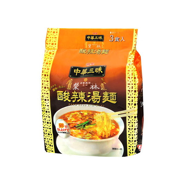 [ 3packs ] Myojo Chukazanmai Akasakaeirin  Hot and sour soup Ramen 103g [ 3袋入り]明星 中華三昧 赤坂榮林 酸辣湯麺 103g